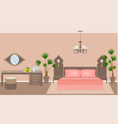luxury asian bedroom interior vector image