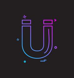magnet icon design vector image