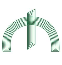 manat sign azerbaijani currency symbol icon vector image