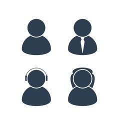 Men and women avatars vector image