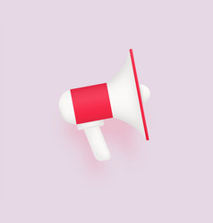 Modern megaphone 3d red loudspeake for marketing vector