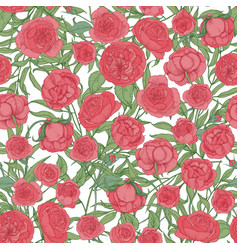 natural seamless pattern with blooming garden pink vector image