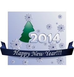 New Year Card made in Plane Style vector