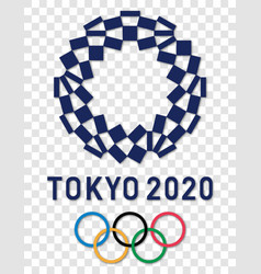 Official logo 2020 summer olympic games vector