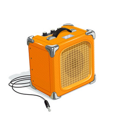 Orange guitar combo amplifier vector
