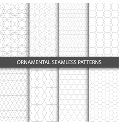 Ornamental seamless patterns - collection vector image