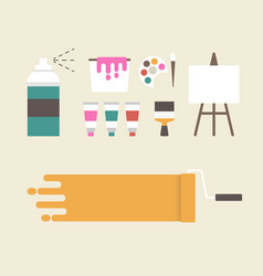 Painter equipment vector