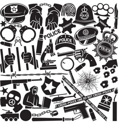 Police icons pattern or background vector