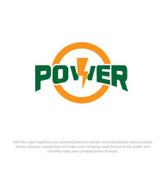 power logo designs vector image