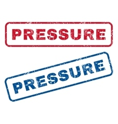 Pressure rubber stamps vector