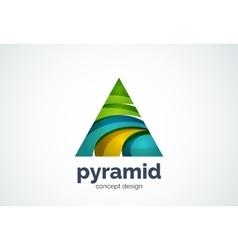 Pyramid logo template triangle cycle concept vector