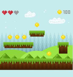 Retro style pixel game vector