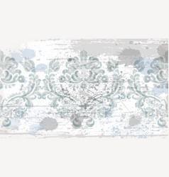Rococo texture pattern vector