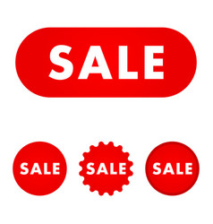 sale red buttons vector image