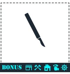 Scalpel icon flat vector