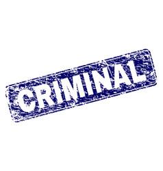 Scratched criminal framed rounded rectangle stamp vector