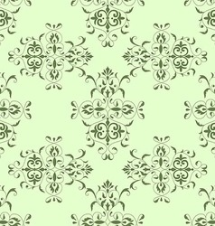 Seamless pattern vintage style in green color vector