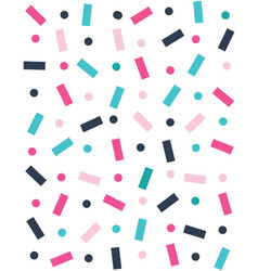seamless pattern with confetti vector image