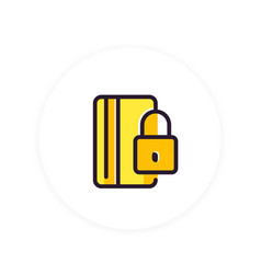 secure payment with credit card icon on white vector image