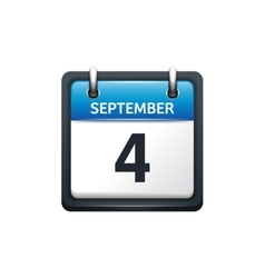 September 4 Calendar icon vector image