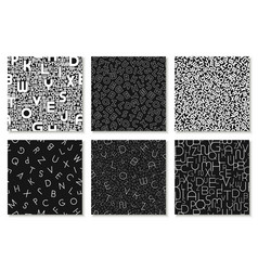 set alphabet patterns covers cards vector image