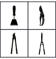 Set of Agricultural Tool Icons vector image