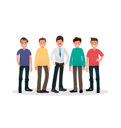 set of male characters vector image