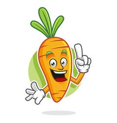 Smart carrot mascot carrot character carrot vector