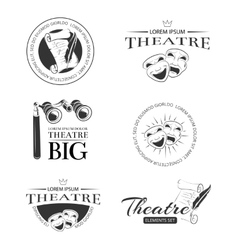 Theater acting entertainment performance vector image