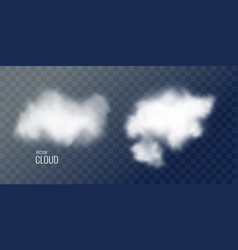 transparent white cloud in the background vector image