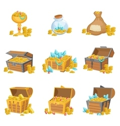 Treasure And Riches Set Of Graphic Design Elements vector