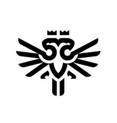 Two head eagle logo design template vector