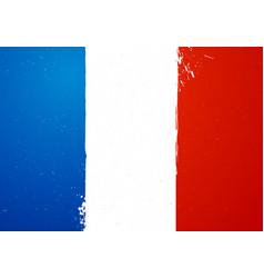 vintage grunge texture flag france vector image
