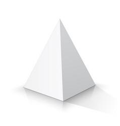 White square pyramid vector