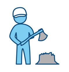 Worker man silhouette vector