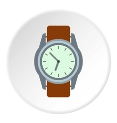 Wrist watch icon flat style vector