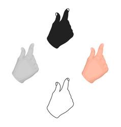 Zoom in gesture icon in cartoonblack style vector
