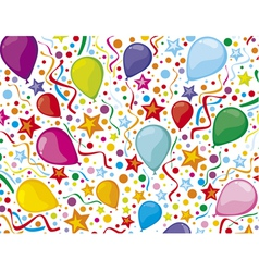 birthday background with party streamers vector image vector image