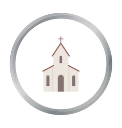 Church icon of for web and vector image