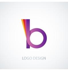 colorful logo letter b vector image
