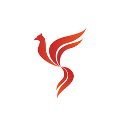 flying bird shape fire flames element emblem vector image