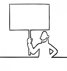 man holding a protest sign vector image vector image