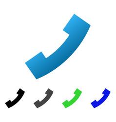 Phone receiver flat gradient icon vector