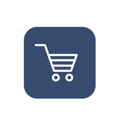 shopping cart icon flat design vector image