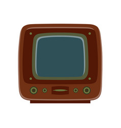 tv retro television icon old vintage screen vector image vector image