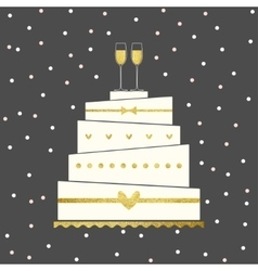 Wedding Cake Card vector image