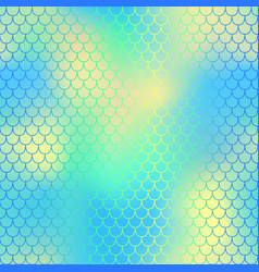 yellow blue fish scale pattern with colorful mesh vector image vector image