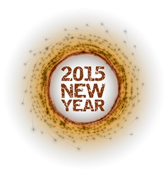 2015 fireworks orange vector image vector image