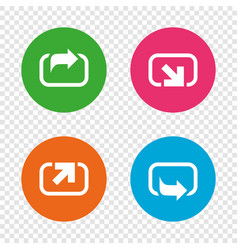 action icons share symbols vector image