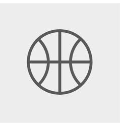 Basketball ball thin line icon vector image